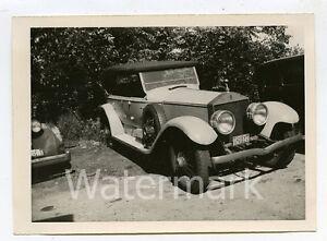 Vintage-B-W-photo-car-automobile-1926-Rolls-Royce-Phaeton
