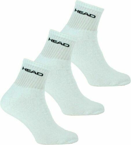 Head Mens Sports Short Crew Socks Triple Pack White