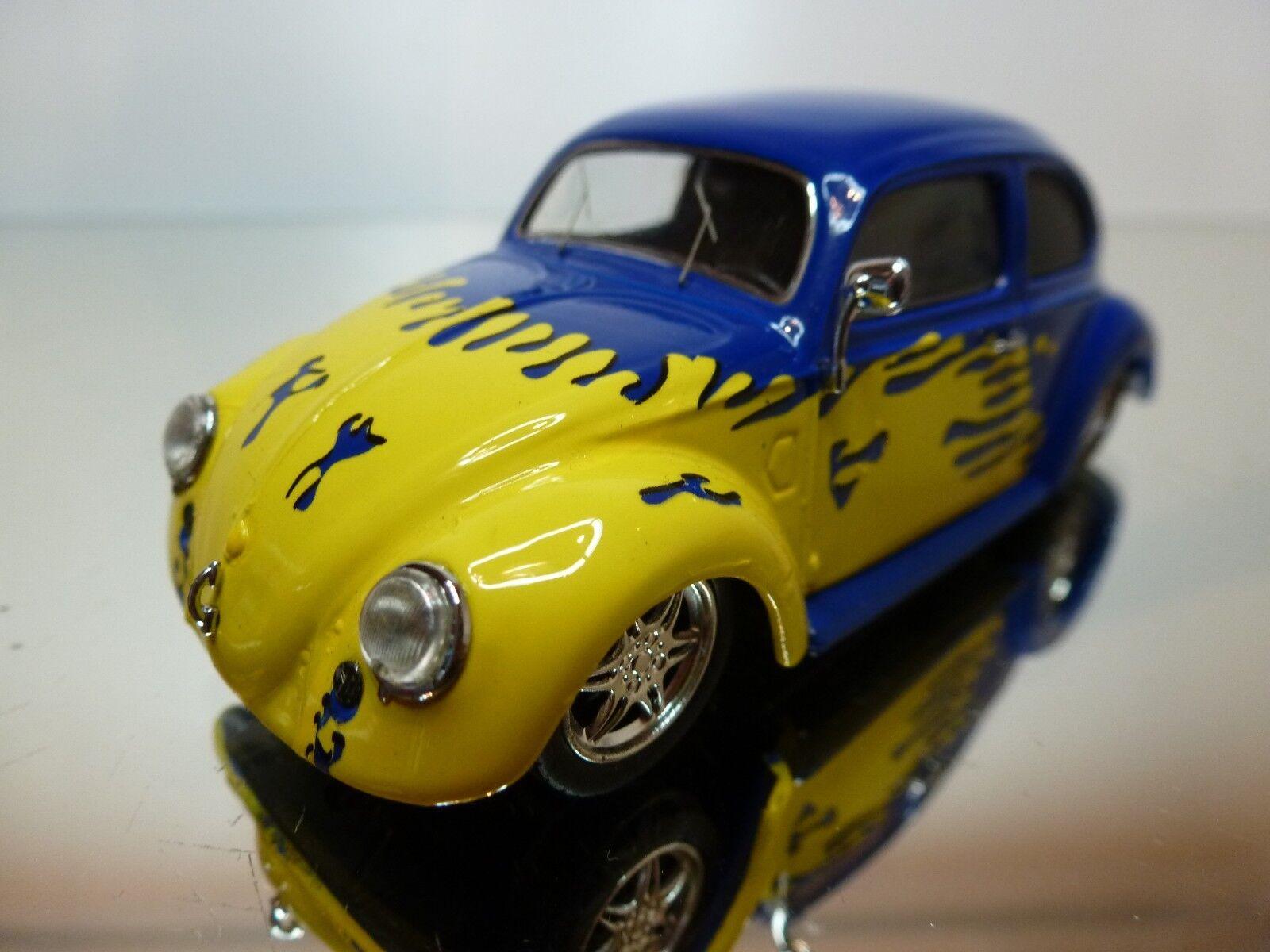 SCHUCO VW VOLKSWAGEN BEETLE 1951 - SPLIT WINDOW - blueE 1 43 - EXCELLENT 11 12