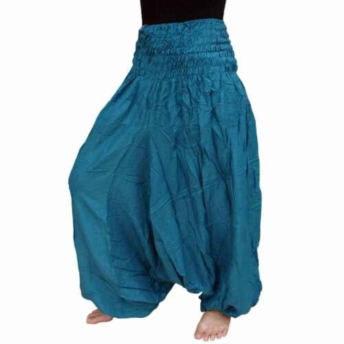 Hose Damen Extra groß weit Beine Haremshose Pumphose Harem Aladin XL XXL XXXL 56