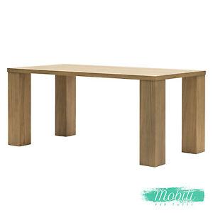 Tavolo Moderno In Rovere.Tavolo Moderno In Rovere Naturale E Gambe A Colonna 180cm