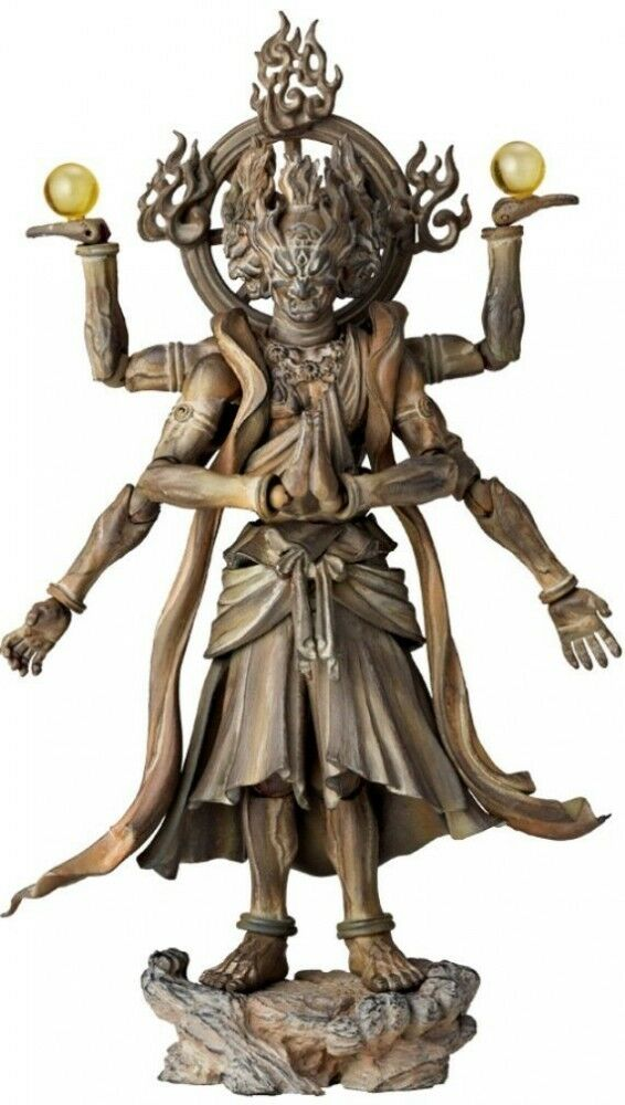 New Kaiyodo Revoltech Takeya Series No.003 EX Ashura Wood Carving Edition