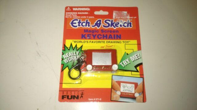 ETCH A SKETCH Magic Screen Mini Key Chain World's Favorite Drawing Toy #571-0