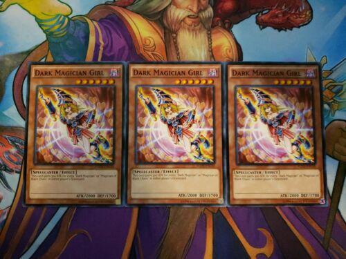 3x Dark Magician Girl Unlimited Edition Common YGLD-ENC10 Yu-Gi-Oh!
