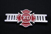 Firefighter Fire Department 3d Abs Chrome Finish Decal Logo Emblem For