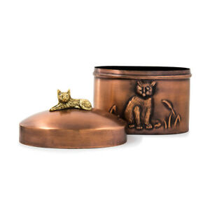 Cat-Cremation-Urn-for-ashes-One-Size-Copper-Antique-finish