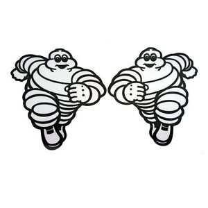 Michelin-running-man-sponsor-stickers-motorcycle-decals-graphics-x-2-small