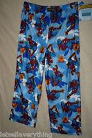 Boys Spiderman Fleece Pajama Lounge Pants S 6/8