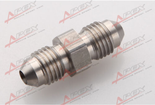 Stainless Steel 4AN To AN4 4AN Male Flare Straight Union Fitting