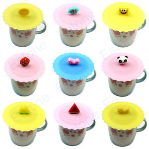 Cute Anti Dust Silicone Glass Cup Cover Coffee Mug Suction