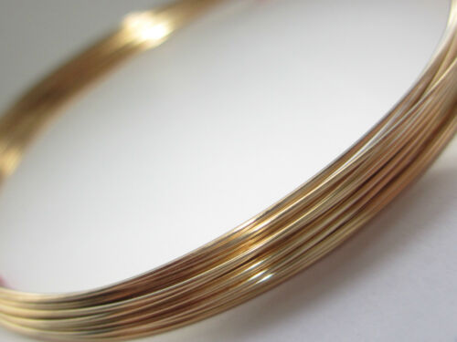 Gold Filled Round Wire 21 gauge 0.72mm Half Hard 5 ft