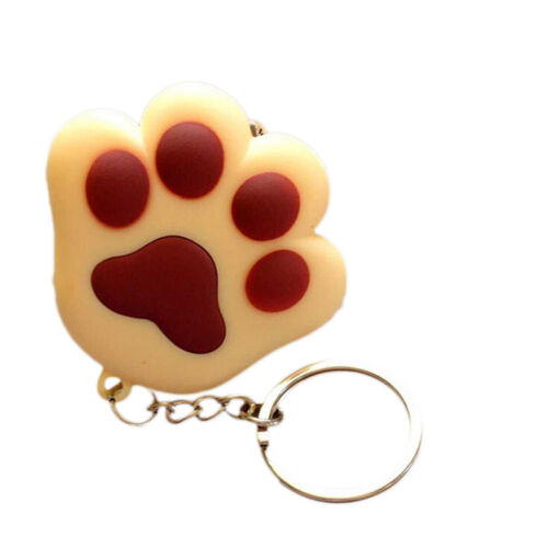 1x LED light Cat Paw With Sound Lovely Torch Keyring Keychain Gift Fashion S/&K