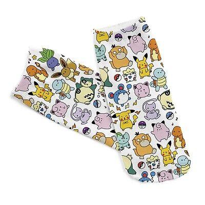 Pokemon Cartoon Pikachu Socks Anime Pocket Monster Character Unisex Short Socks