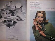 PUBLICITÉ 1960 TRICOT RODIER BAN-LON 80 COLORIS - CHAT - ADVERTISING