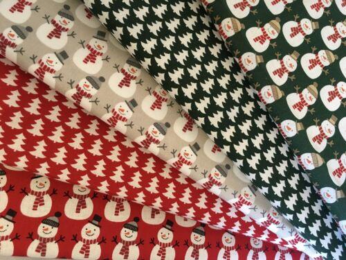 Fat Quarters paquetes Navidad 100/% Tela De Algodón Festivo Coser Rojo Oro Verde F55