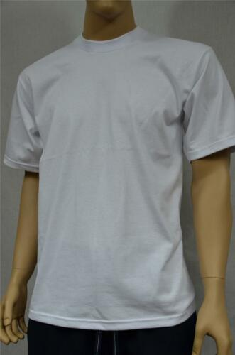 2 NEW PROCLUB 4XL HEAVY WEIGHT T-SHIRTS WHITE PLAIN TEE PRO CLUB BLANK 2PC