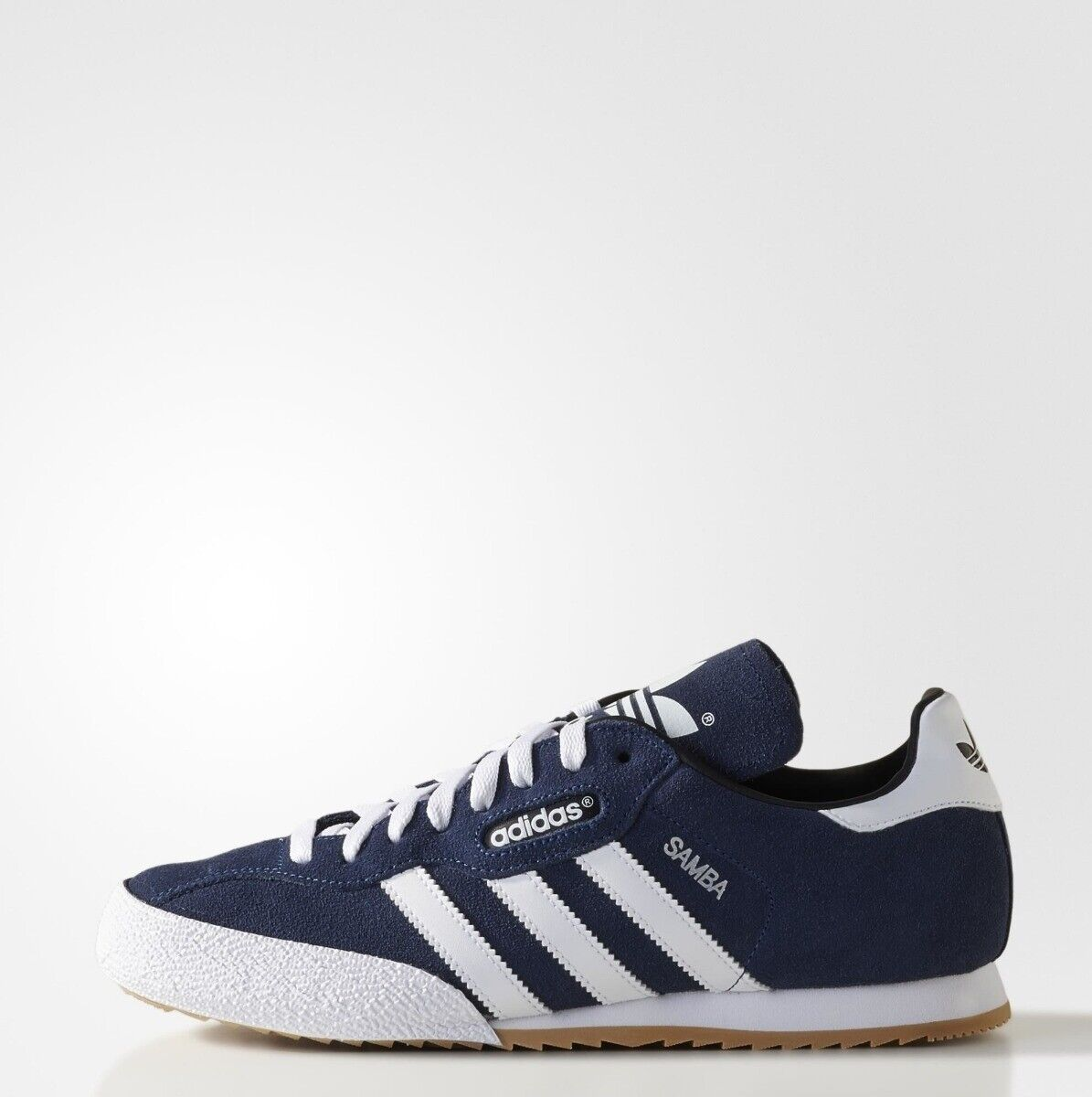 Adidas Samba Super Suede Mens Trainers shoes Navy White Size 7