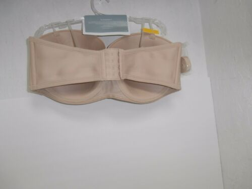 Vanity Fair 74380 Beauty Back Strapless  Bra Rose Beige Size 42DD New!!!