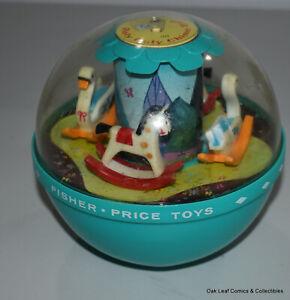 FISHER PRICE Vtg 1966 Roly Poly Chime Ball #165 Rare Folk Toy Baby Nostalgia