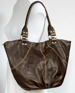 Leather Spain soft Shoulder Large Tote Brown Ferchi Bag Chocolate Bucket Of 5TRYwnXXqF