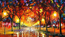 "WARM RAIN DROPS  —  Oil Painting On Canvas By Leonid Afremov. Size: 40""x24"""