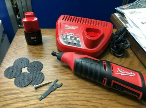MILWAUKEE 2460-20 12V ROTARY TOOL W// M12  2.0Ah BATTERY /& CHARGER