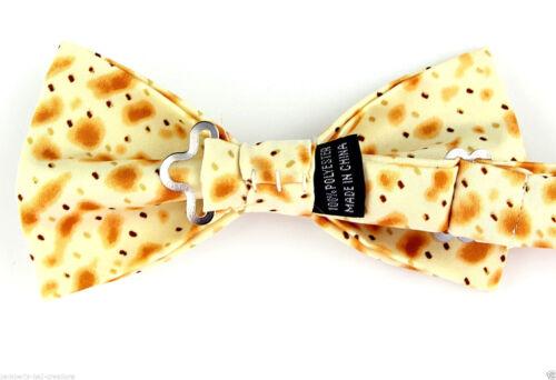 Matzo Men/'s Religious Bow Tie Jewish Passover Food Matzah Adjustable Bowtie