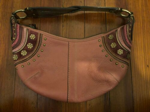Vintage Pink Suede and Pink & Brown Leather Coach