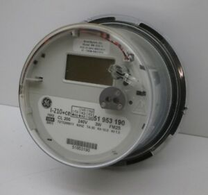 Details about GE I-120+ce Itron SSI 1210 1x Wireless Smart Watthour Meter  CL200 240V 3W FM2S