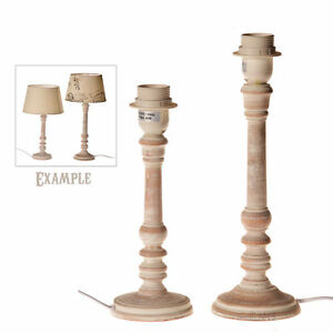 lampenfu lampen fu lampe leuchte shabby chic holz landhaus grau ebay. Black Bedroom Furniture Sets. Home Design Ideas