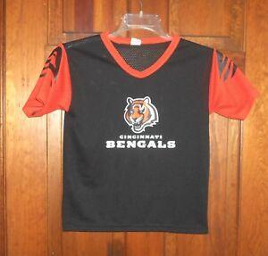 8502a777 Details about CINCINNATI BENGALS TEAM NFL Apparel Vintage Football Jersey  Youth Kids sz M