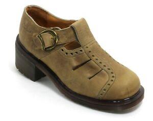 205 Bottes Chaussures Femme en Cuir Dr.Martens Airwair Basses Sangles 38
