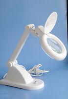 Tisch-Lupen Lampe Leuchte Stand Lupe 12 Dioptrien Vergrößerung Led Kalt Licht