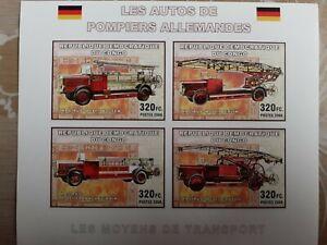 RDC-CONGO-AUTOS-DE-POMPIERS-ALLEMANDES-MNH-Non-Dentele-Prix-debut-eq-5