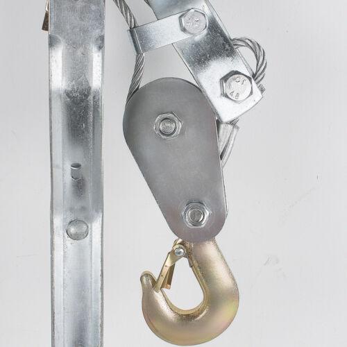 4Ton 8000lb Come Along Hoist Ratcheting Cable Winch Puller Crane Comealong Safe