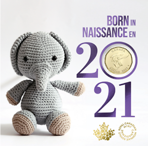 Born In 2021 Gift Card Set of 5 coins. SPECIAL $1 COIN ONLY COMES IN THIS SET