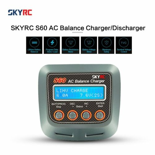 SKYRC S60 60W AC Balance Charger//Discharger for LiPo LiHV LiFe RC Battery *