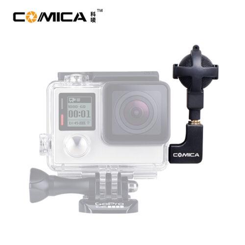 4 5 Cámara Entrevista micrófono Mic de vídeo estéreo Comica para GoPro Hero 3 3