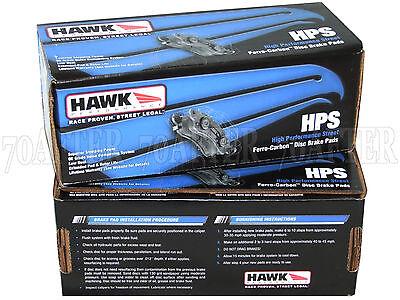 Camaro SS S60 R STS-V Hawk HPS Brake Pads Front And Rear For CTS-V V70 R