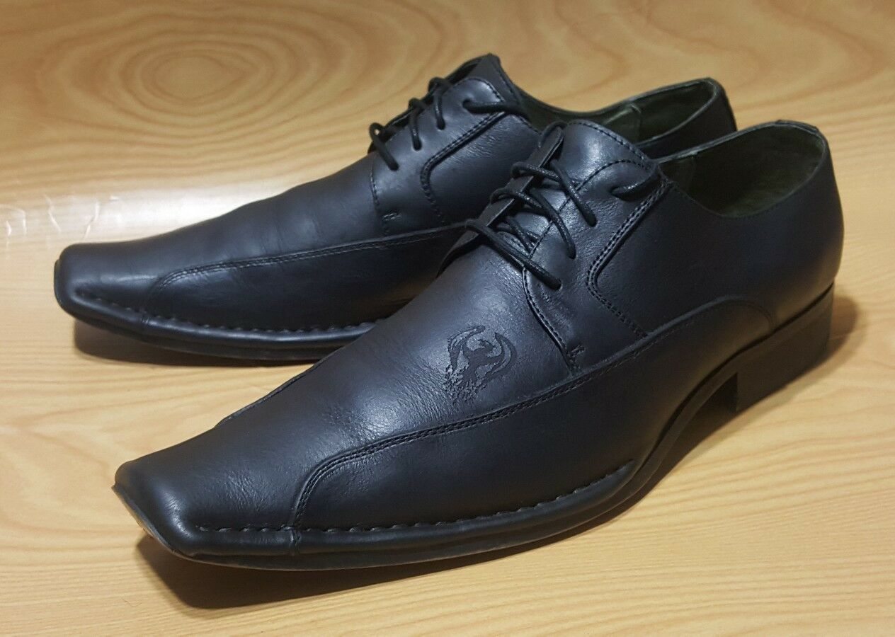 SOHO LAB Oxfords Black Leather Mens 10.5 Lace Up shoes