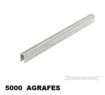 5000 AGRAFE 16 MM TYPE 90 POUR AGRAFEUSE CLOUEUSE PNEUMATIQUE 15-50 MM