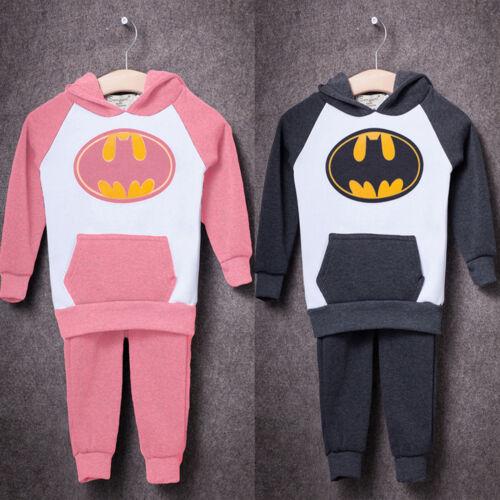 Infant Baby Toddler Boys Superhero Batman Hoodie Romper Outfit Bodysuit Jumpsuit