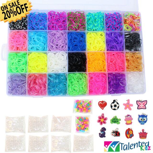 Talented Kidz Bundle 40 Rainbow Rubber Loom Bands Bracelet Making Best Rubber Band Bracelet Patterns