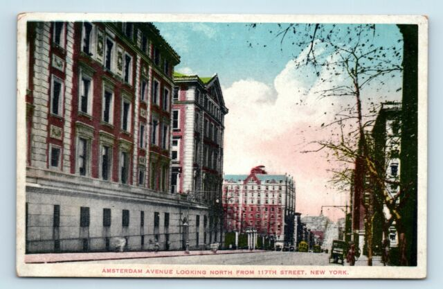 New York City, NY - c1920s STREET SCENE - AMSTERDAM AVE NORTH - POSTCARD - D3