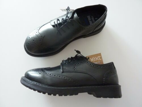 NEXT Boys Black Leather School Shoes NWT