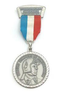 1990-Sapeur-Pompier-Carl-Poellath-12e-Marche-Populaire-Fevrier-France-Medal-K261