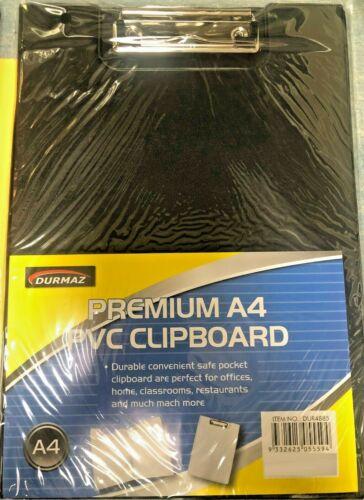 CLIPBOARD QTY:2 A4 PREMIUM QUALITY PVC BLUE OR BLACK 2 OF CLIPBOARDSHYT