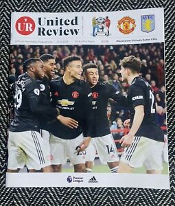 Manchester-United-v-Aston-Villa-Programme-1-12-2019-FREE-UK-DELIVERY-LAST-ONE