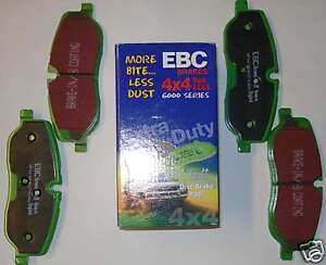 Performance Front Brake Pads for Land Rover Discovery 3 4 EBC Green Stuff