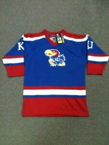 online store cca0e 5a6e3 Details about Kansas Jayhawks Youth X-Large Hockey Jersey Colosseum
